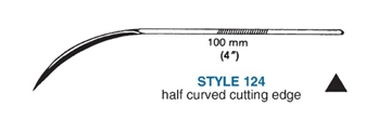 Picture of 100mm, Heavy Duty Half-Curved Suture Needle - Style 124-4