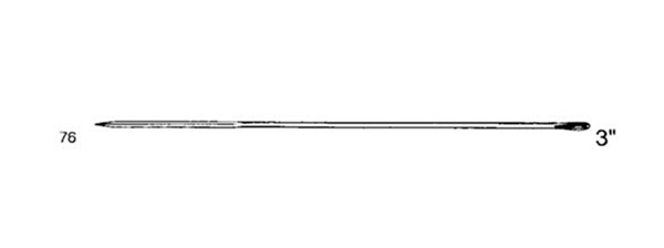 Picture of 76mm Straight Cutting Keith Suture Needle - Style 211-3