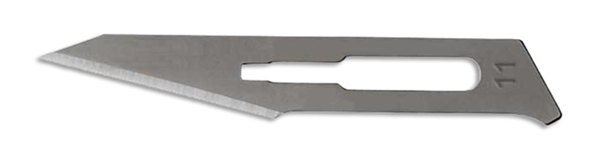 Picture of #11 Non-Sterile Carbon Steel Scalpel Blades - Box of 100